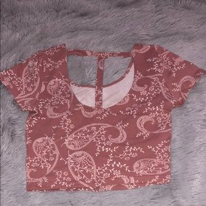 Charlotte Russe Tops - NEW! Charlotte Russe T-back Crop Top Size Small